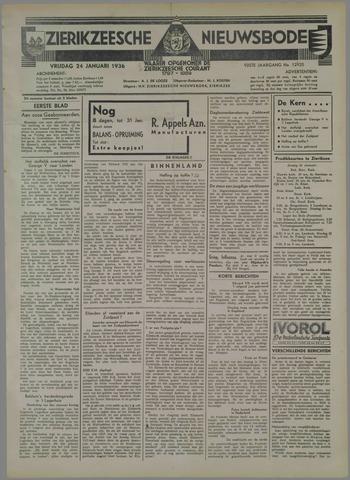 Zierikzeesche Nieuwsbode 1936-01-24