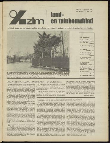 Zeeuwsch landbouwblad ... ZLM land- en tuinbouwblad 1972-02-11