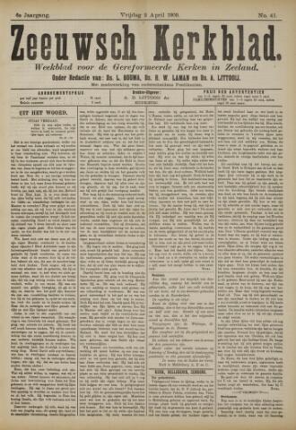 Zeeuwsche kerkbode, weekblad gewijd aan de belangen der gereformeerde kerken/ Zeeuwsch kerkblad 1909-04-02