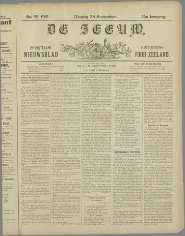 De Zeeuw. Christelijk-historisch nieuwsblad voor Zeeland 1901-09-24