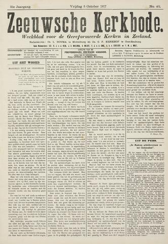 Zeeuwsche kerkbode, weekblad gewijd aan de belangen der gereformeerde kerken/ Zeeuwsch kerkblad 1917-10-05