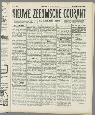 Nieuwe Zeeuwsche Courant 1911-04-25