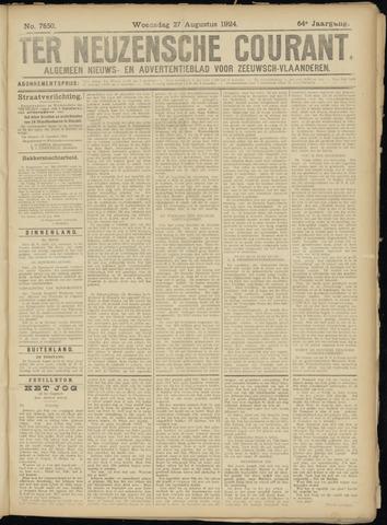 Ter Neuzensche Courant. Algemeen Nieuws- en Advertentieblad voor Zeeuwsch-Vlaanderen / Neuzensche Courant ... (idem) / (Algemeen) nieuws en advertentieblad voor Zeeuwsch-Vlaanderen 1924-08-27