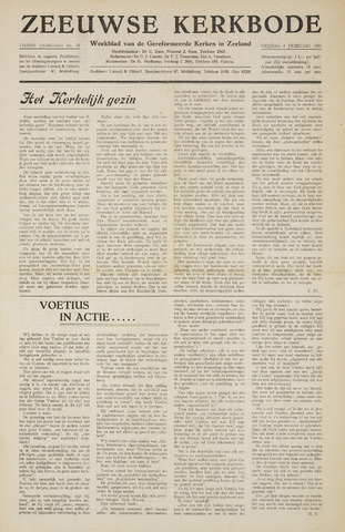 Zeeuwsche kerkbode, weekblad gewijd aan de belangen der gereformeerde kerken/ Zeeuwsch kerkblad 1955-02-04