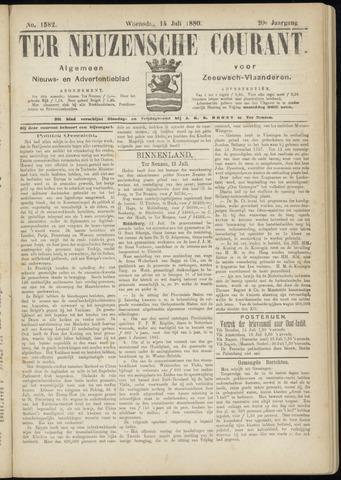 Ter Neuzensche Courant. Algemeen Nieuws- en Advertentieblad voor Zeeuwsch-Vlaanderen / Neuzensche Courant ... (idem) / (Algemeen) nieuws en advertentieblad voor Zeeuwsch-Vlaanderen 1880-07-14