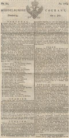 Middelburgsche Courant 1764-07-05
