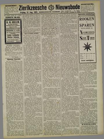 Zierikzeesche Nieuwsbode 1921-08-12
