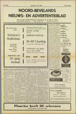 Noord-Bevelands Nieuws- en advertentieblad 1961-06-03