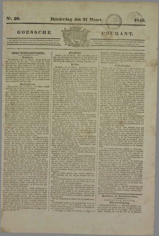 Goessche Courant 1842-03-31