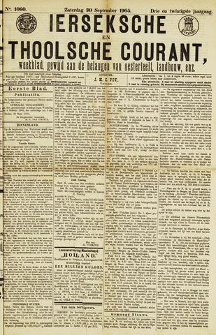 Ierseksche en Thoolsche Courant 1905-09-30