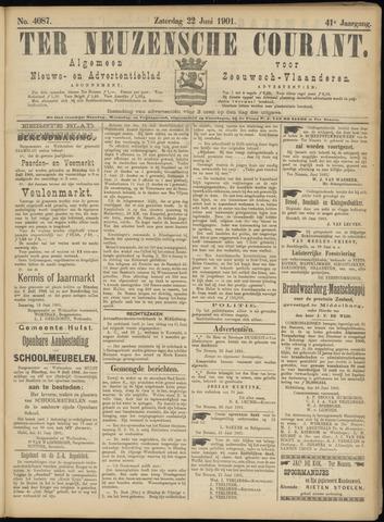 Ter Neuzensche Courant. Algemeen Nieuws- en Advertentieblad voor Zeeuwsch-Vlaanderen / Neuzensche Courant ... (idem) / (Algemeen) nieuws en advertentieblad voor Zeeuwsch-Vlaanderen 1901-06-22