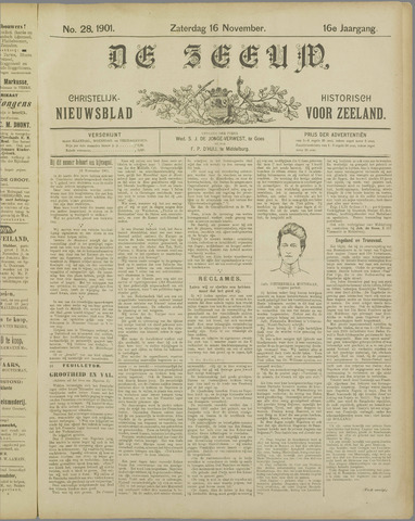 De Zeeuw. Christelijk-historisch nieuwsblad voor Zeeland 1901-11-16