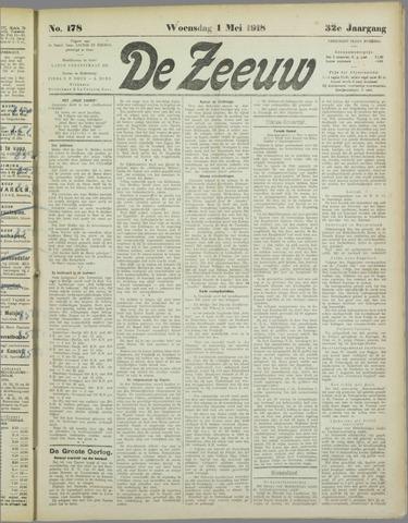 De Zeeuw. Christelijk-historisch nieuwsblad voor Zeeland 1918-05-01