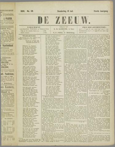 De Zeeuw. Christelijk-historisch nieuwsblad voor Zeeland 1890-07-10