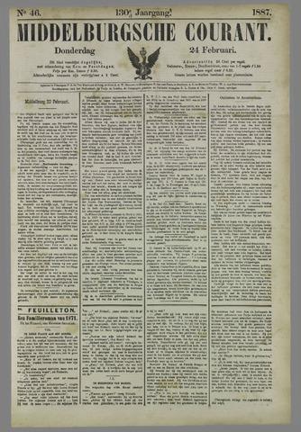 Middelburgsche Courant 1887-02-24