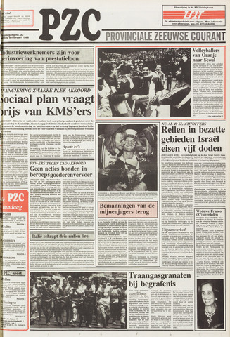 Provinciale Zeeuwse Courant 1988-02-08