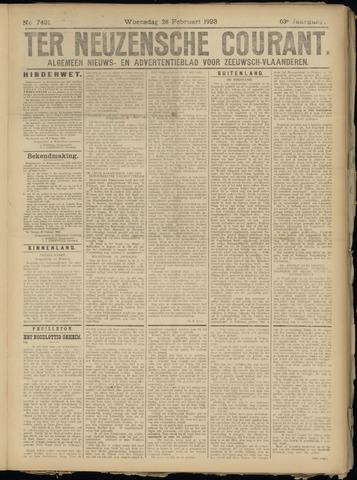 Ter Neuzensche Courant. Algemeen Nieuws- en Advertentieblad voor Zeeuwsch-Vlaanderen / Neuzensche Courant ... (idem) / (Algemeen) nieuws en advertentieblad voor Zeeuwsch-Vlaanderen 1923-02-28