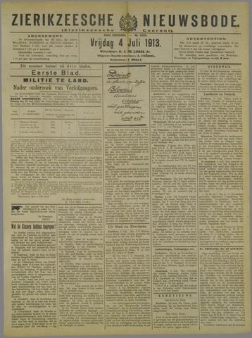 Zierikzeesche Nieuwsbode 1913-07-04