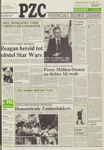 Provinciale Zeeuwse Courant 1986-07-25
