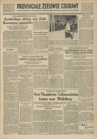 Provinciale Zeeuwse Courant 1952-07-03