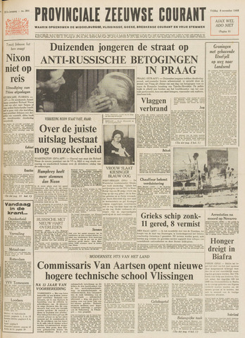 Provinciale Zeeuwse Courant 1968-11-08