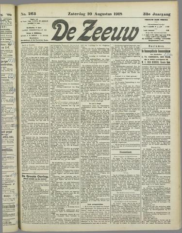 De Zeeuw. Christelijk-historisch nieuwsblad voor Zeeland 1918-08-10
