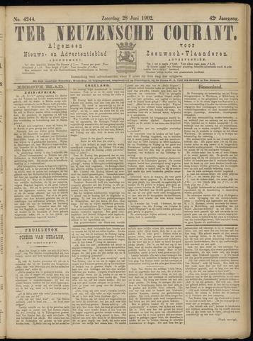 Ter Neuzensche Courant. Algemeen Nieuws- en Advertentieblad voor Zeeuwsch-Vlaanderen / Neuzensche Courant ... (idem) / (Algemeen) nieuws en advertentieblad voor Zeeuwsch-Vlaanderen 1902-06-28