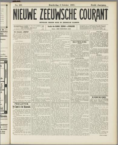 Nieuwe Zeeuwsche Courant 1907-10-03