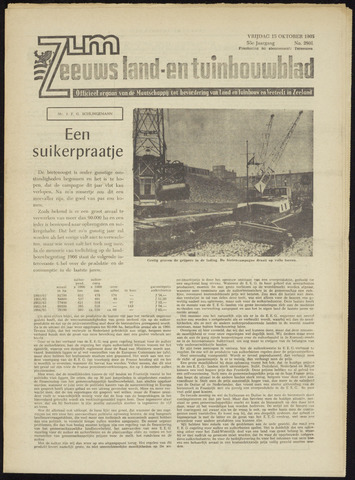 Zeeuwsch landbouwblad ... ZLM land- en tuinbouwblad 1965-10-15