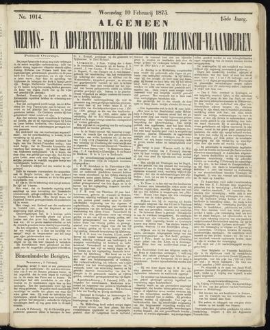 Ter Neuzensche Courant. Algemeen Nieuws- en Advertentieblad voor Zeeuwsch-Vlaanderen / Neuzensche Courant ... (idem) / (Algemeen) nieuws en advertentieblad voor Zeeuwsch-Vlaanderen 1875-02-10