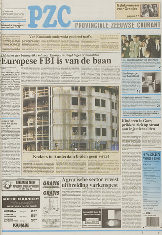 Provinciale Zeeuwse Courant 1997-02-06
