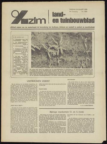 Zeeuwsch landbouwblad ... ZLM land- en tuinbouwblad 1970-03-18