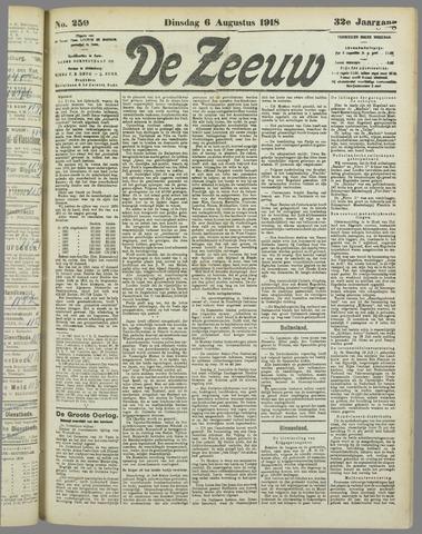 De Zeeuw. Christelijk-historisch nieuwsblad voor Zeeland 1918-08-06