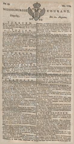 Middelburgsche Courant 1779-08-10