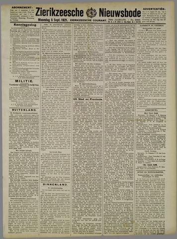 Zierikzeesche Nieuwsbode 1921-09-05