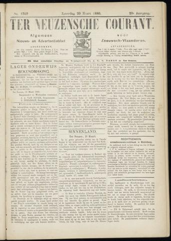 Ter Neuzensche Courant. Algemeen Nieuws- en Advertentieblad voor Zeeuwsch-Vlaanderen / Neuzensche Courant ... (idem) / (Algemeen) nieuws en advertentieblad voor Zeeuwsch-Vlaanderen 1880-03-20