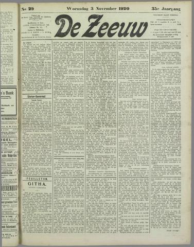 De Zeeuw. Christelijk-historisch nieuwsblad voor Zeeland 1920-11-03
