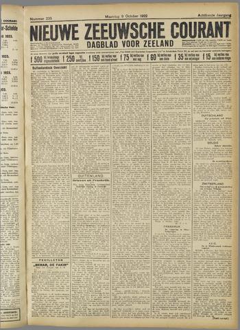 Nieuwe Zeeuwsche Courant 1922-10-09
