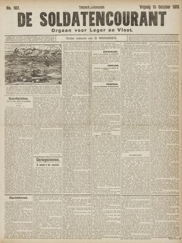 De Soldatencourant. Orgaan voor Leger en Vloot 1915-10-15