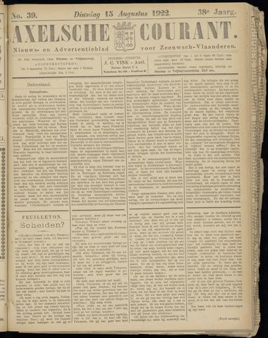 Axelsche Courant 1922-08-15
