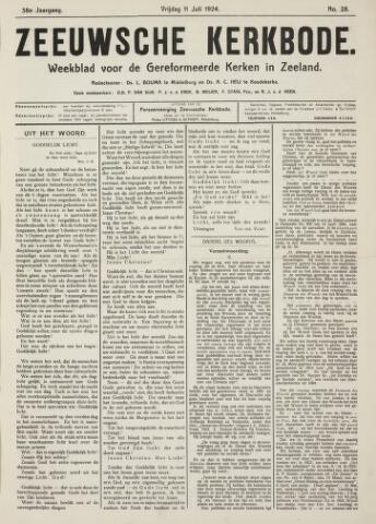 Zeeuwsche kerkbode, weekblad gewijd aan de belangen der gereformeerde kerken/ Zeeuwsch kerkblad 1924-07-11