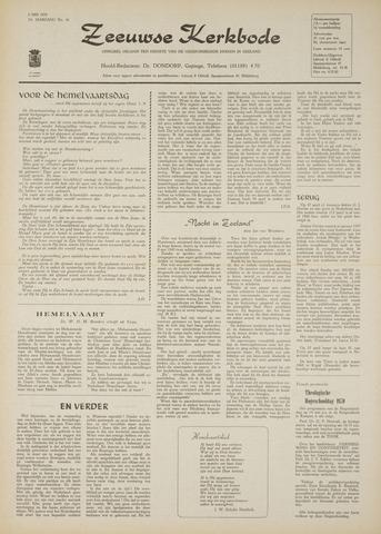 Zeeuwsche kerkbode, weekblad gewijd aan de belangen der gereformeerde kerken/ Zeeuwsch kerkblad 1970-05-08