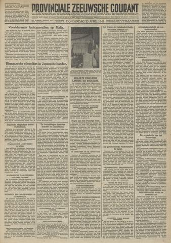Provinciale Zeeuwse Courant 1942-04-23