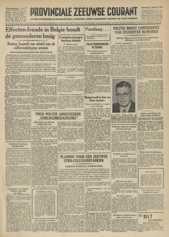 Provinciale Zeeuwse Courant 1950-01-09