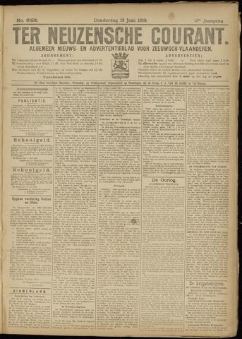 Ter Neuzensche Courant. Algemeen Nieuws- en Advertentieblad voor Zeeuwsch-Vlaanderen / Neuzensche Courant ... (idem) / (Algemeen) nieuws en advertentieblad voor Zeeuwsch-Vlaanderen 1918-06-13