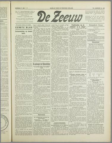 De Zeeuw. Christelijk-historisch nieuwsblad voor Zeeland 1937-07-17
