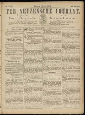 Ter Neuzensche Courant. Algemeen Nieuws- en Advertentieblad voor Zeeuwsch-Vlaanderen / Neuzensche Courant ... (idem) / (Algemeen) nieuws en advertentieblad voor Zeeuwsch-Vlaanderen 1902-06-10
