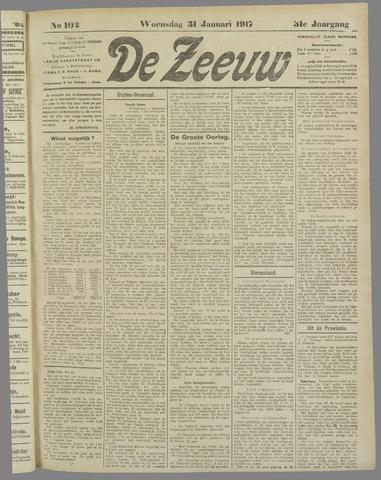 De Zeeuw. Christelijk-historisch nieuwsblad voor Zeeland 1917-01-31