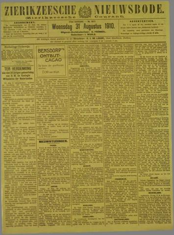 Zierikzeesche Nieuwsbode 1910-08-31