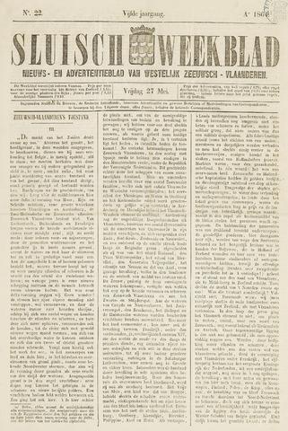 Sluisch Weekblad. Nieuws- en advertentieblad voor Westelijk Zeeuwsch-Vlaanderen 1864-05-27